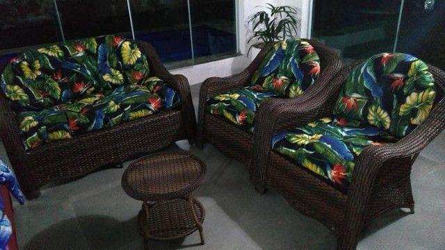 Conjunto de sofá grego em fibra sintética  - Foto 2