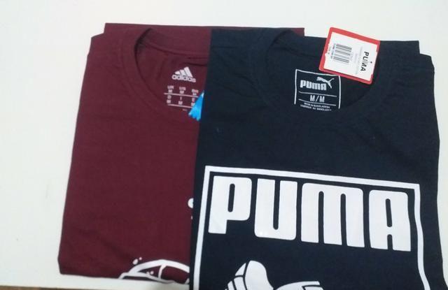 Kit 2 Peças Camiseta Masculina 100% Algodão Top Tamanho M - Foto 4