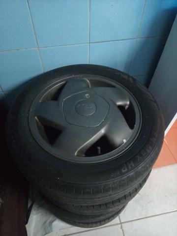 Rodas 14 com pneus 185/55/14 - Foto 3