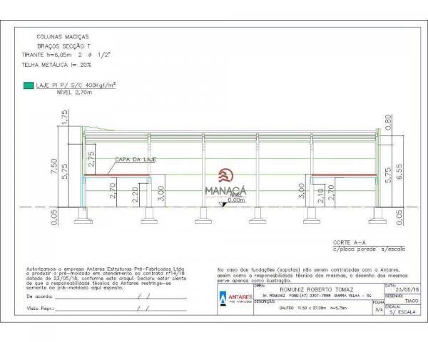 Galpão para alugar, 313 m² por r$ 3.500,00/mês - itajuba - barra velha/sc - Foto 15