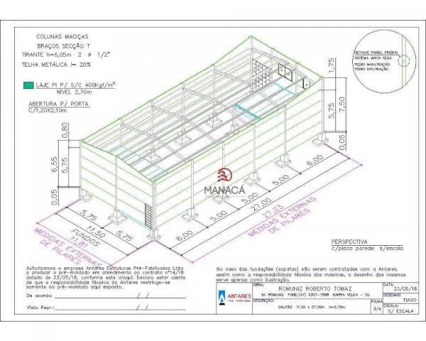 Galpão para alugar, 313 m² por r$ 3.500,00/mês - itajuba - barra velha/sc - Foto 17