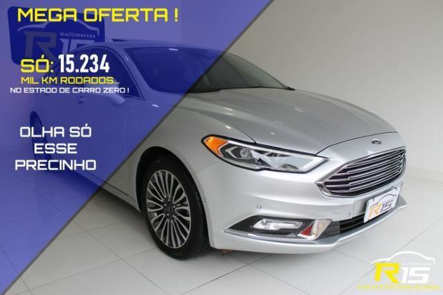 Ford Fusion 2.0 EcoBoost Titanium AWD (Aut) 2017-Impecável Único Dono-Baixa Quilometragem