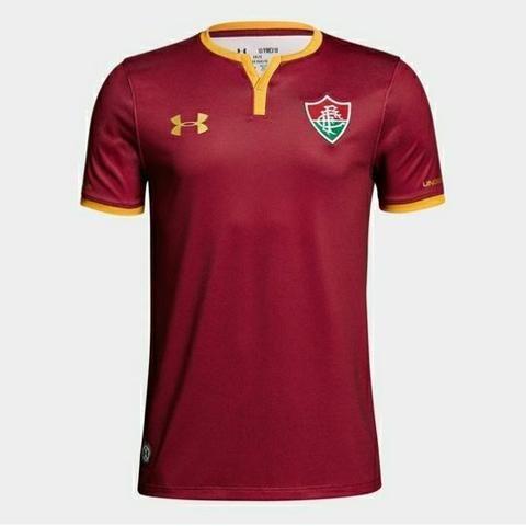 872e19b93 Camisa Fluminense III 17/18 s/nº - Torcedor Under Armour Masculina - Bordô