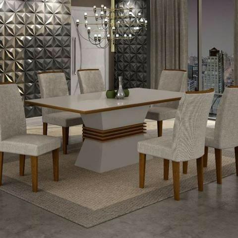 Mesa de Jantar 6 cadeiras luxory - Whats 9 * receba rápido e pague na entrega!