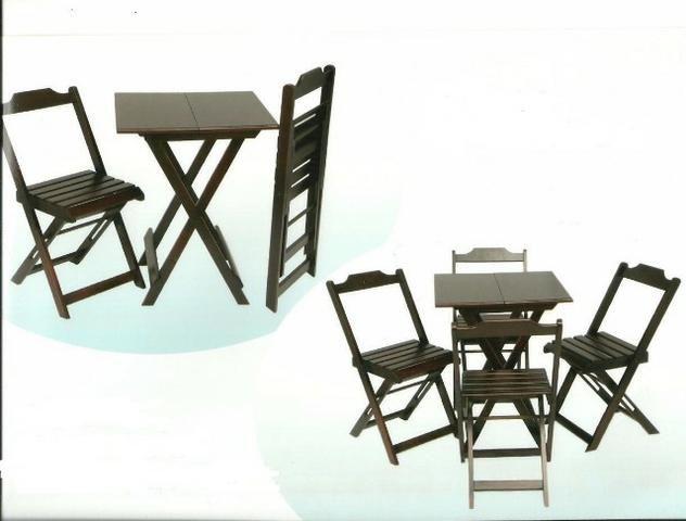 Mesas e cadeiras dobraveis - estabelecimentos comerciais e residencias - Foto 5