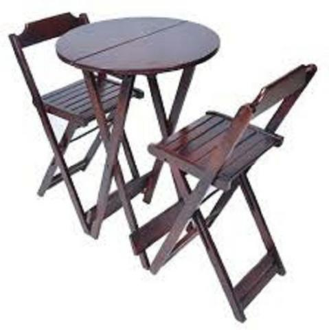 Mesas e cadeiras dobraveis - estabelecimentos comerciais e residencias - Foto 3