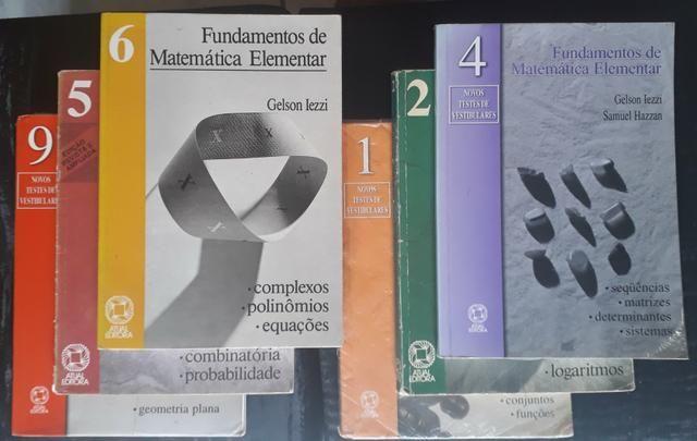 Fundamentos da Matemática Elementar 1, 2, 4, 5, 6 e 9