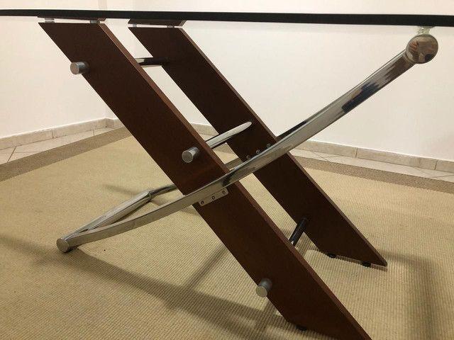 Mesa com 6 cadeiras e tampo de vidro de 12mm - Foto 2