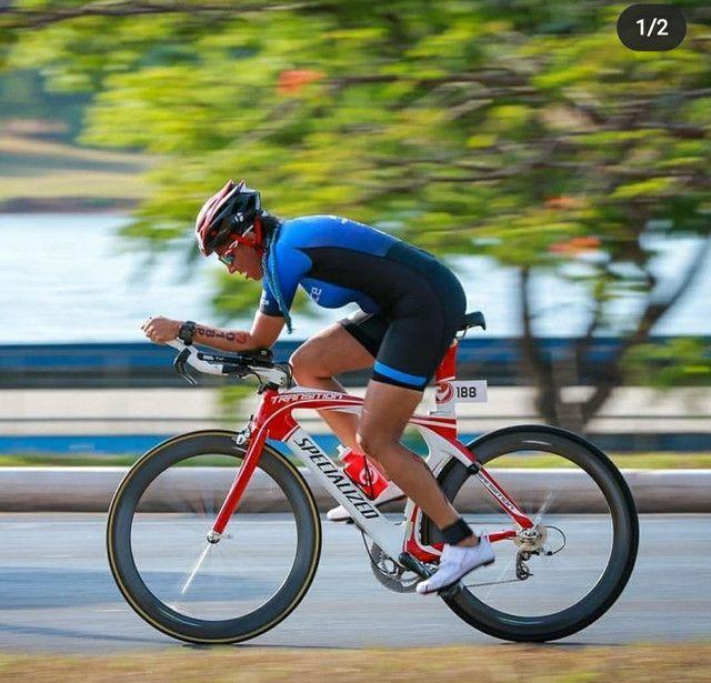 Bike TT Triathlon Specialized Transition Pro full carbono - Foto 6