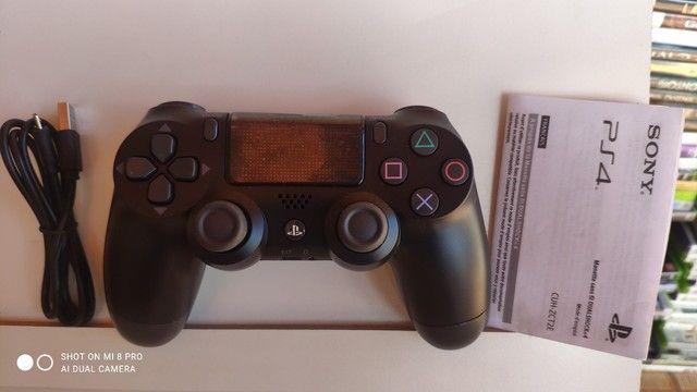 Controle PS4 Sony novo com LED  caixa cabo grátis - Foto 2