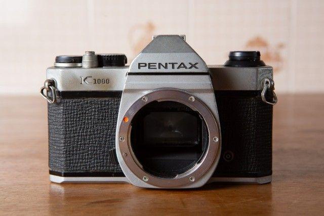 Kit 3 Cameras E 6 Lentes Pentax + Acessórios - Foto 2