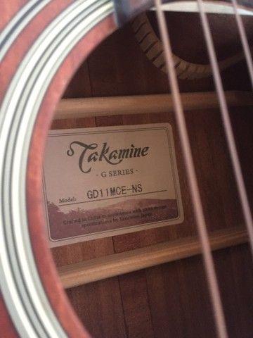 Violão takamine seria GD11 com capa amufadada Correia e cabo santo angelo shog - Foto 5