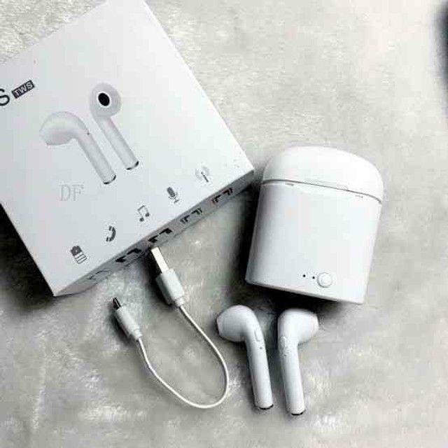 Fone i7s Bluetooth: - Fone de ouvido sem fio