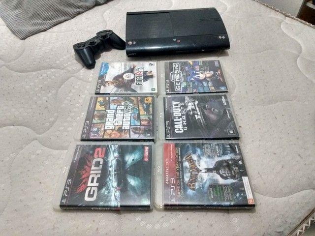 PS3 ORIGINAL COM 6 JOGOS E UM CONTROLE