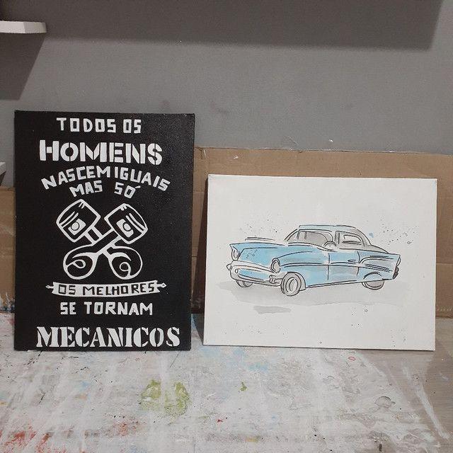 2 quadros decorativos mecânico