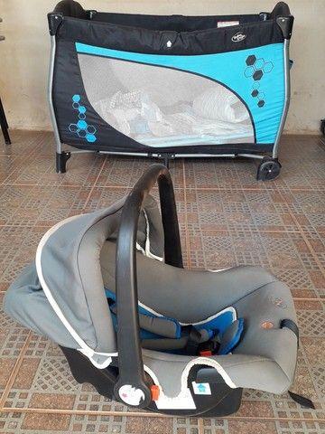 Berço cercadinho e Bebê conforto  - Foto 3