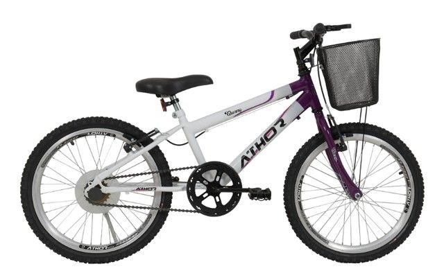 Bicicleta Aro 20 Feminina Charmy c/ Cestão