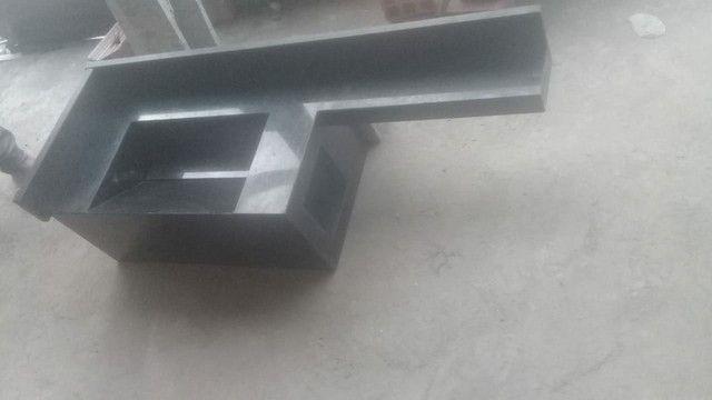 Bancada de granito   projeto esculpido  - Foto 3