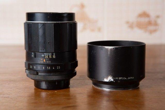 Kit 3 Cameras E 6 Lentes Pentax + Acessórios - Foto 4