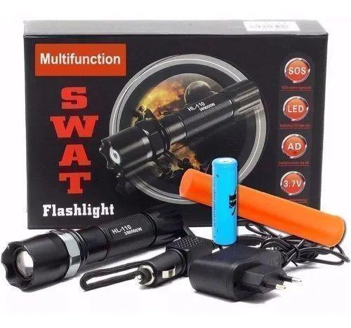 Lanterna tática com sinalizador Swat