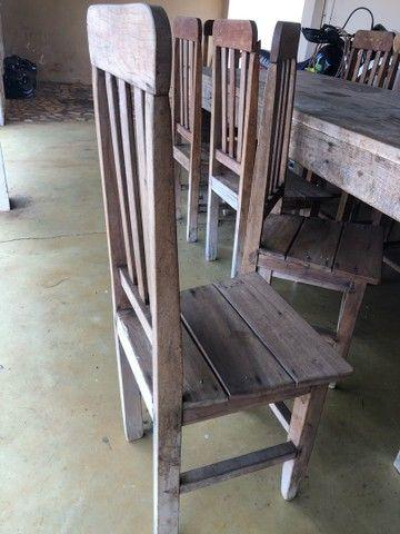Mesa de madeira 10 lugares - Foto 4