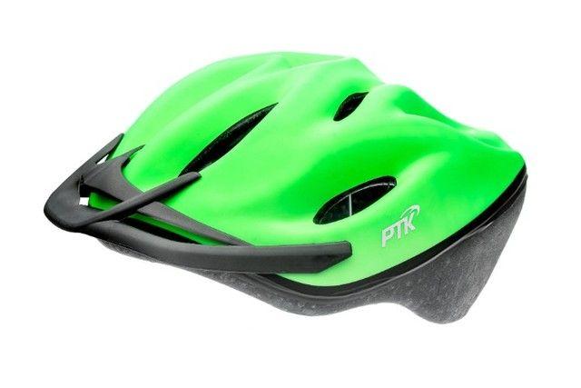 Capacete Esportivo Patins kate Bike Neon C/ Regulagem