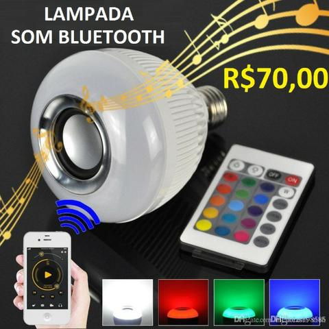 Lampada LED ( Bluetooth ) RGB ( Som )