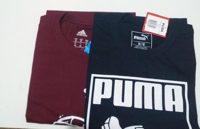 Kit 2 Peças Camiseta Masculina 100% Algodão Top Tamanho M - Foto 3