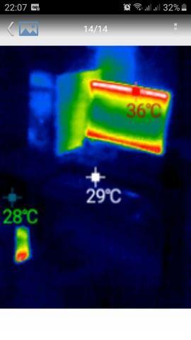 Câmera térmica para tel. celular android, res. 220 x 160 - Foto 3