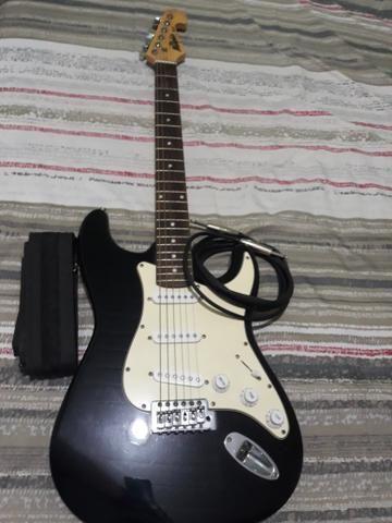 Guitarra com cubo amplificador de guitarra - Foto 5