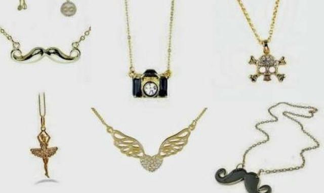 Vendo colares folheado a ouro femininos - Bijouterias 8818c60ac09