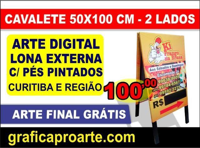 2ba0321de Cavalete Lona Arte Impressa Digital Placas - Comunicação Visual ...