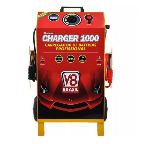Carregador de Baterias 100A 12/24v Bivolt Charger 1000 V8 Brasil - Foto 2