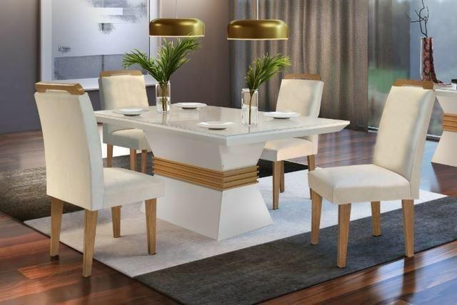 Mesa de Jantar 4 cadeiras luxor * receba rápido e pague na entrega!