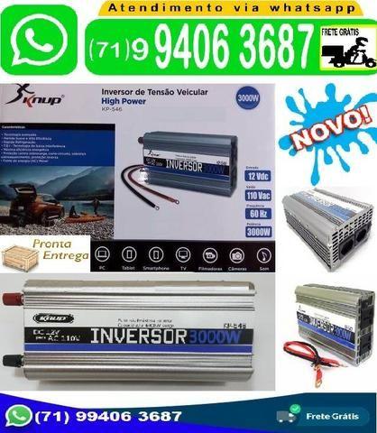 Inversor Conversor de Tensão 3000w 12v p/ 110v (Novo)
