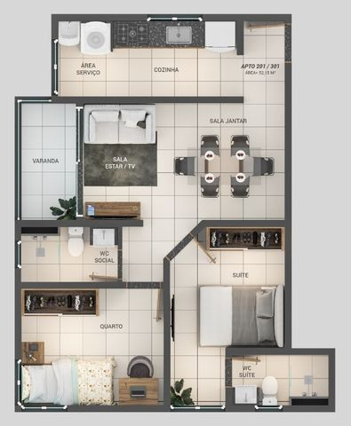 Apartamento á Venda 1 ou 2 quartos nos Bancários - Foto 9