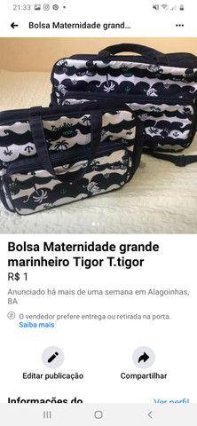 Bolsas Maternidade da Tigor Tigre Original - Foto 2