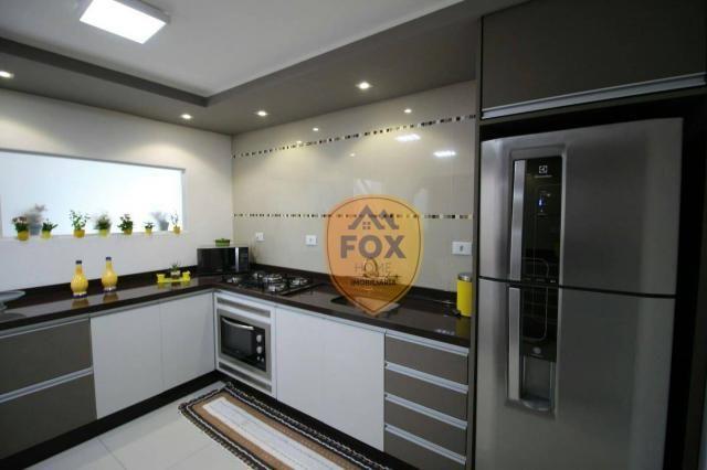 Sobrado com 3 dormitórios para alugar, 240 m² por R$ 5.500,00/mês - Cajuru - Curitiba/PR - Foto 4