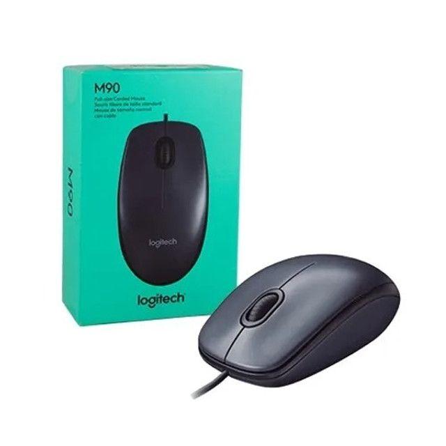 Mouse USB Logitech M90 Óptico Novo Lacrado Garantia - Loja Natan Abreu