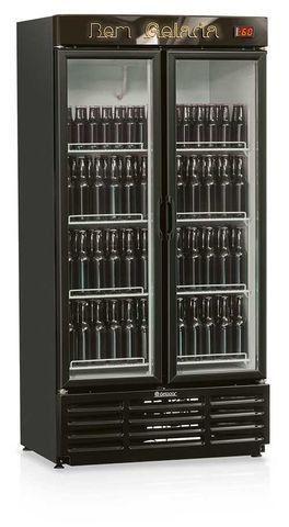 Cervejeira 2 portas de vidro 760 litros gelopar (nova) Alecs
