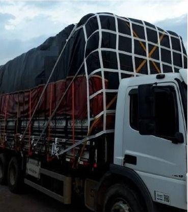 Tela Rede Contenção Cargas Caminhão Normatizada Contran NR 552. Marca Eleva & Amarra - Foto 2