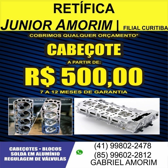 Cabeçote Palio/Uno Fire 1.0 8V Doblo/Strada/Siena 1.3 16V
