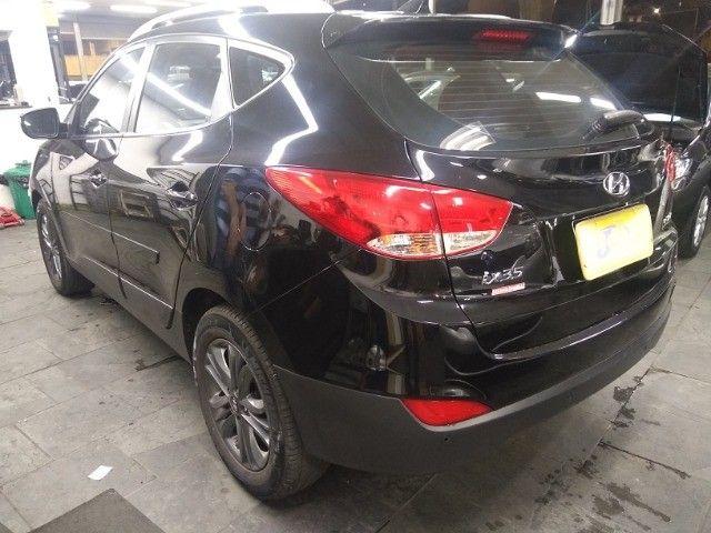 Hyundai IX35 GLS 2.0 16v Flex Autom Completo Couro DVD 2019 Preto - Foto 9