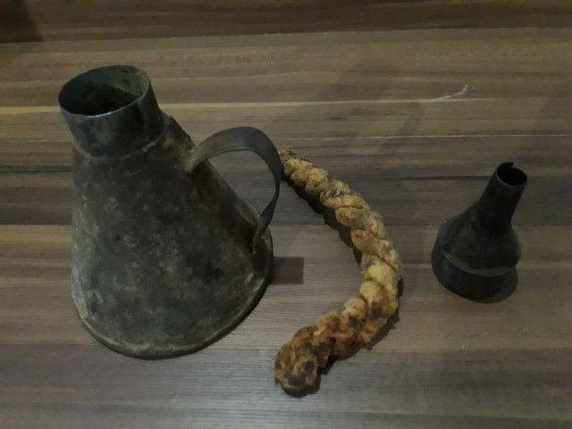 Lamparina de Flandres Candeeiro Rústica - Foto 4