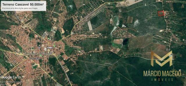 Terreno para loteamento - 50.000m² por R$ 350.000 - Corrente Riacho Fundo - Cascavel/CE - Foto 2