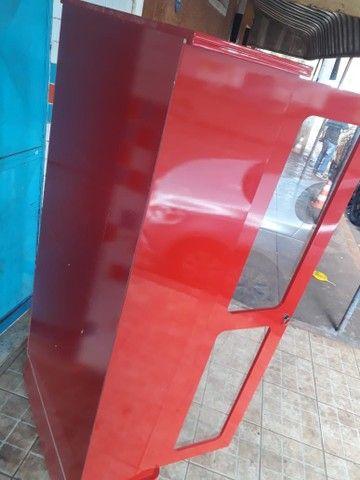 Cristaleira vermelha laca em mdf - Foto 4