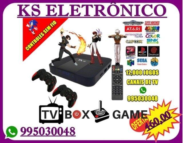 Box Retrô Gamer 13,000 jogos Sem fio.