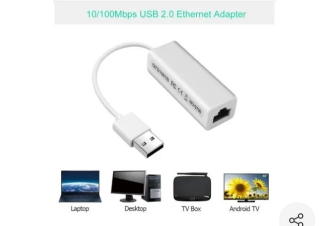 Adaptador de rede USB 2.0 para RJ45 - Foto 2