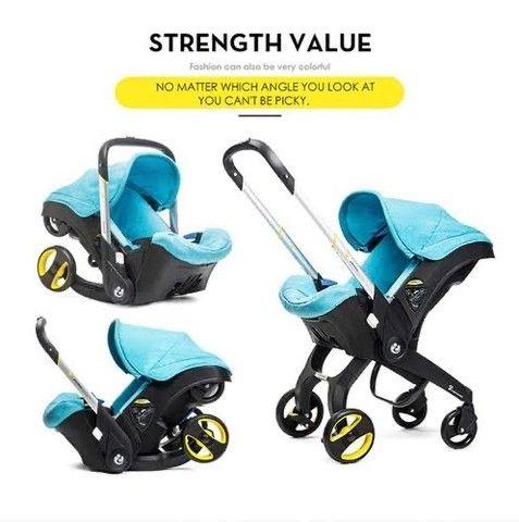 Carrinho de bebê - carrinho que vira bebê conforto e cadeirinha para o carro  - Foto 2