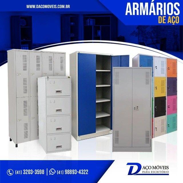 Móveis de aço, estantes, armários, roupeiros e gaveteiros de aço